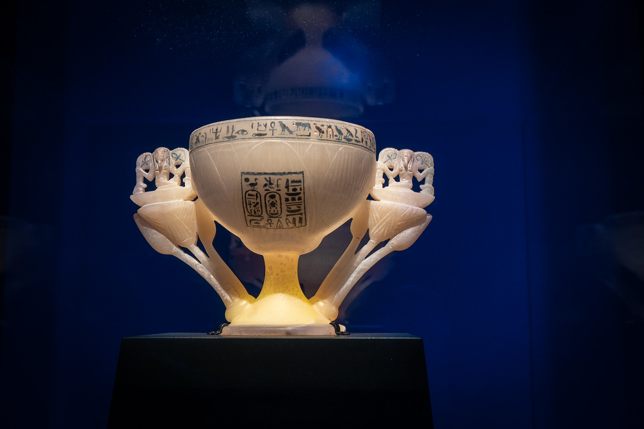Alabaster chalice called the Wishing Cup