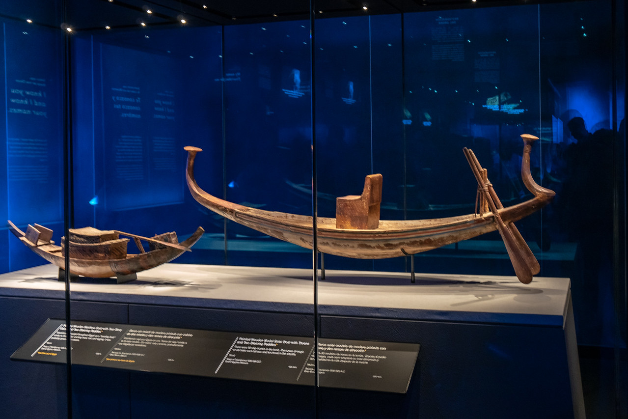 Model ship from King Tut's tomb