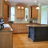 Medina Kitchen: Secondary living room access closed at left corner.  Arched pass-throughs created.