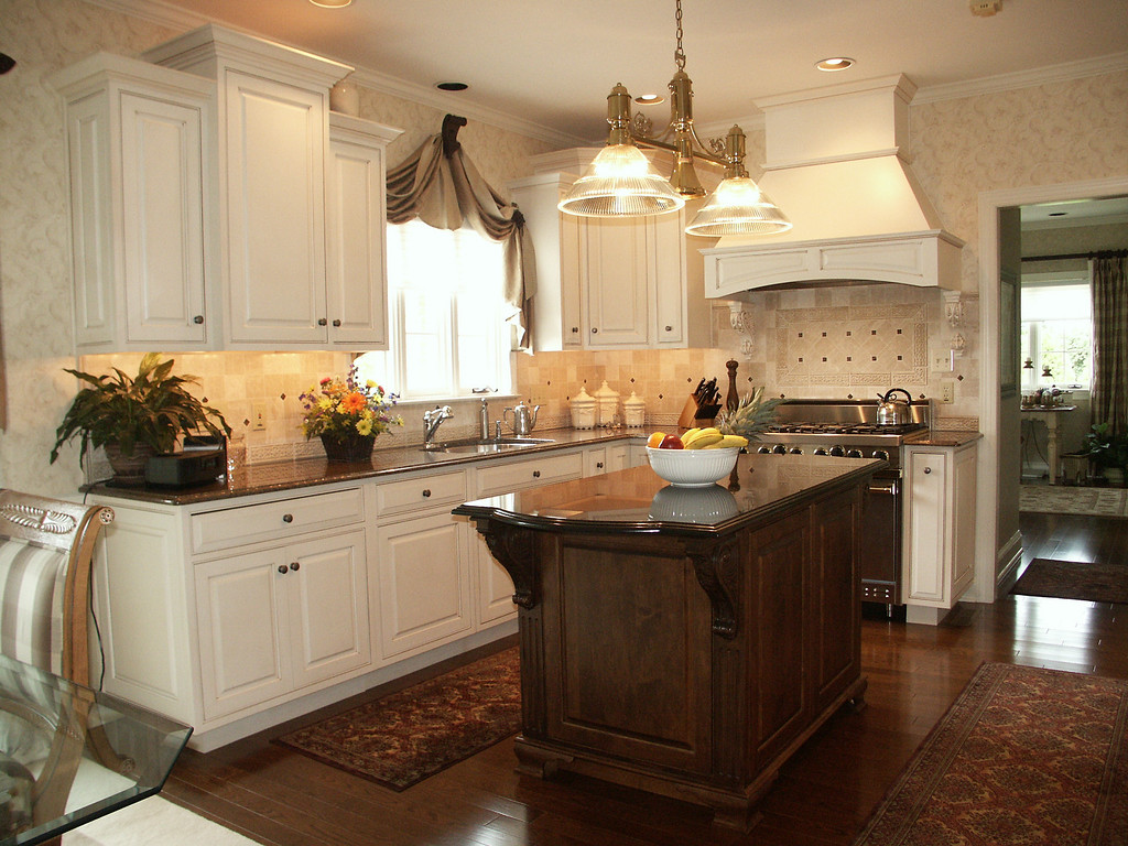 kitchens orackd country french kitchen in antique white paint with a warm brown glaze the island cabinets