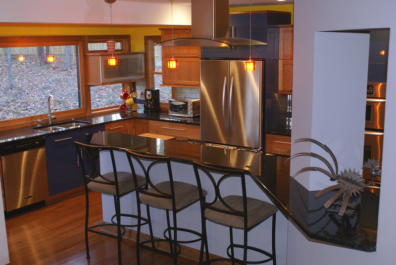 Backer kitchen<br /> Removed partition walls to living and dining rooms.