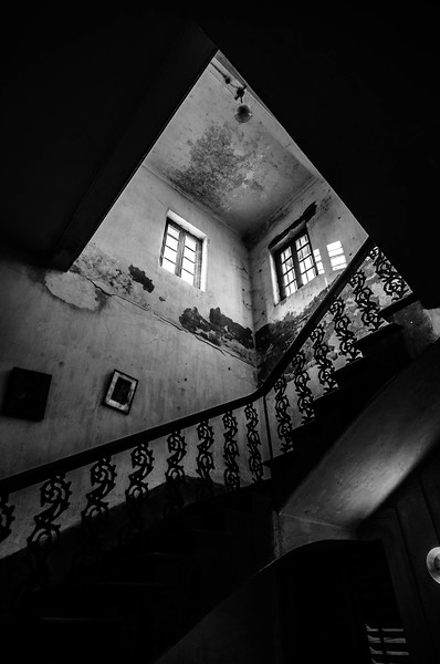 A STAIRCASE OF HOUSE IN RABINDRA SARANI AREA.
