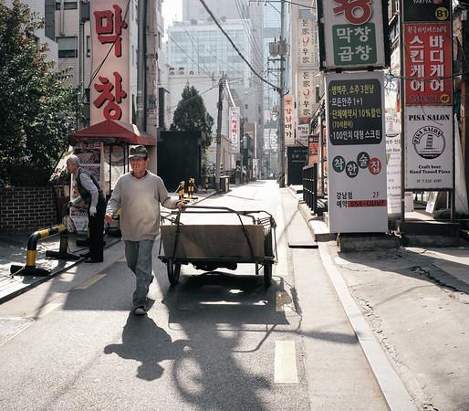 Man + Cart