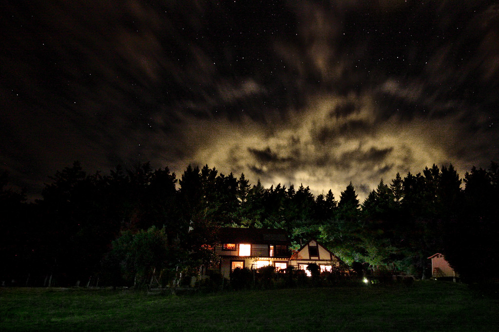 230/365 Mountain Home - © Simpson Brothers Photography  This was shot with a Canon 40D, Sigma 10-20mm Lens and I used my iPhone flashlight to light the foreground.
