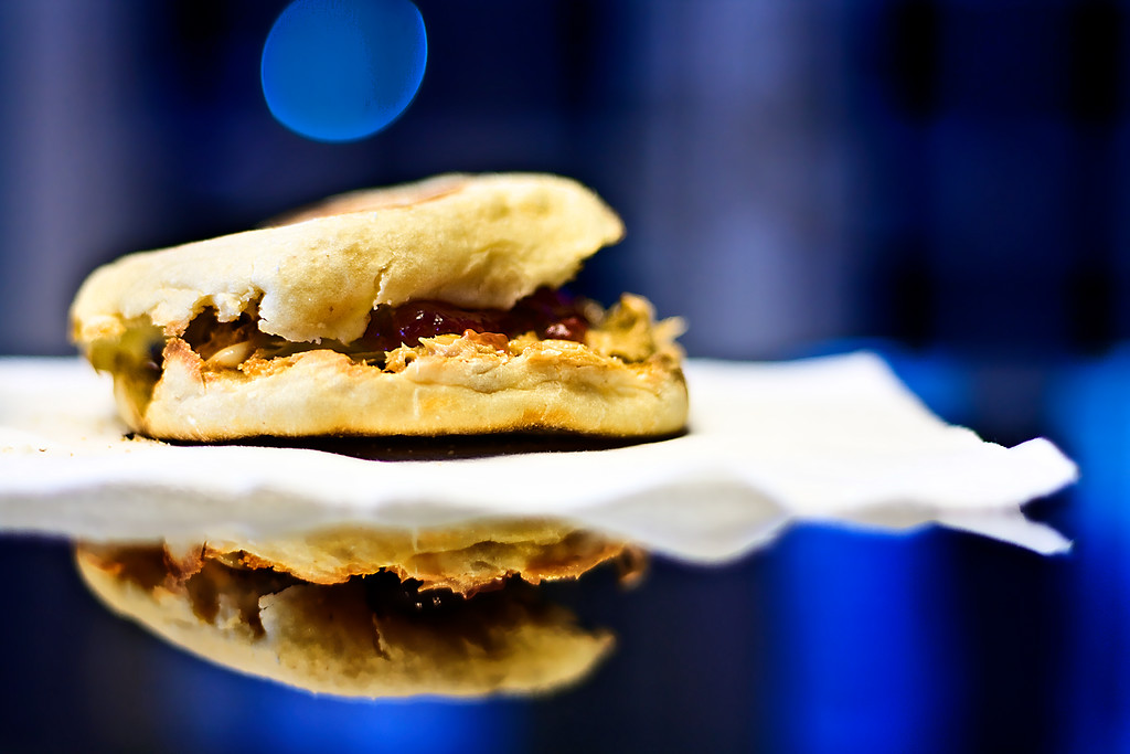 298/365 Peanut Butter Butter & Jelly over English Muffin - © Simpson Brothers Photography