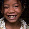 LUANG PRABANG AREA. BORHIA (SAY: BOHE) VILLAGE. LITTLE LAO GIRL. LAOS.