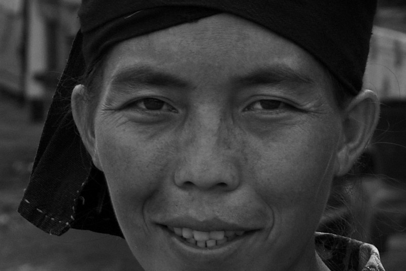 UDOMXAI. PORTRAIT OF A TRIBE WOMAN. NORTHERN LAOS.