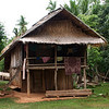 SANOUK VILLAGE. HOUSE OF H'MONG TRIBE PEOPLE. LUANG PRABANG AREA. LAOS.