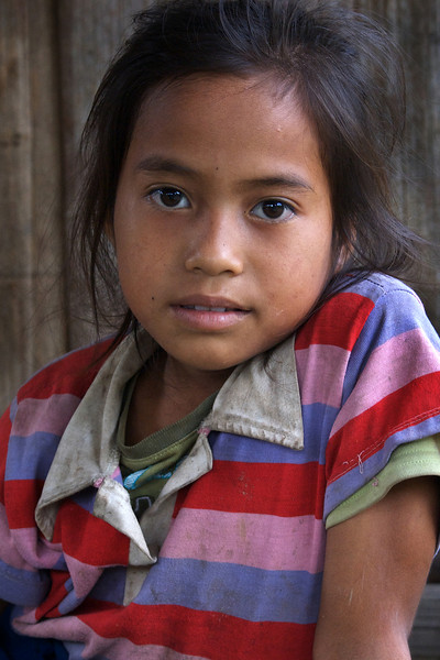 KHAMU GIRL. VILLAGE IN LUANG PRABANG PROVINCE.