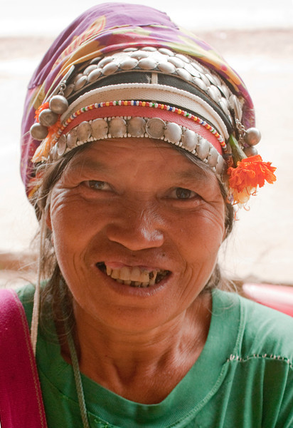 MUANG SING. LUANG NAM THA PROVINCE. OLD TRIBE LADY.