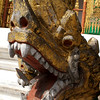 LUANG PRABANG. NATIONAL MUSEUM. CLOSE UP OF A DRAGON. ROYAL TEMPLE.