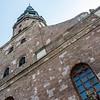 Facade of the St. Peter's Church in Riga, Latvia