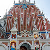 Facade of the Blackheads House (Melngalvju nams) in Riga, Latvia