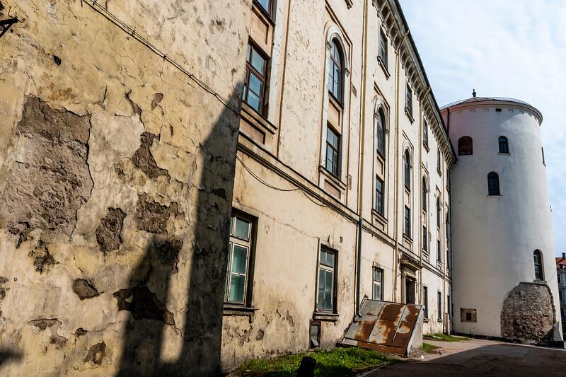 Facade of Riga Castle (Rigas pils) in Riga, Latvia