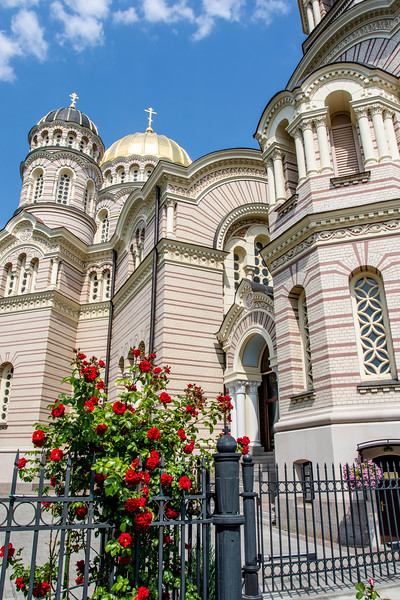 The Navity of Christ Orthodox Cathedral in Riga, Latvia