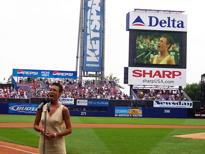 The National Anthem by Gina<br /> Shea Stadium, NYC
