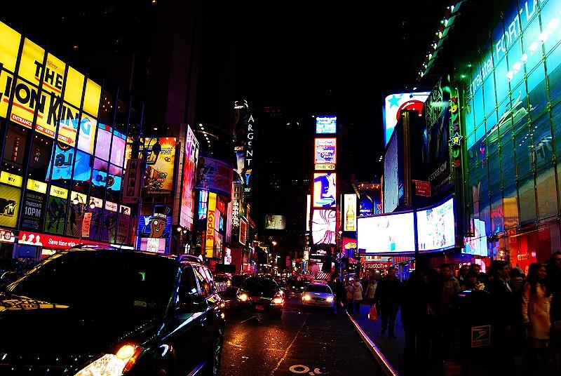 Broadway at Night<br /> New York City