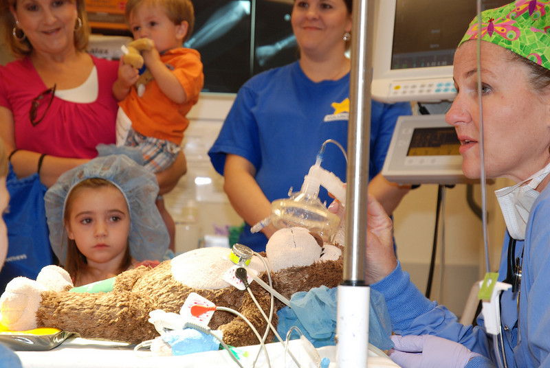 The Chocolate Monkey gets some help in the OR<br /> Kids Care Day at Presby Hospital