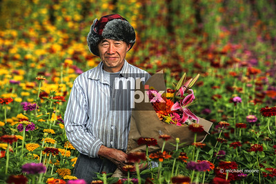 Flower Gardener.  Gardening Lifestyle Photography