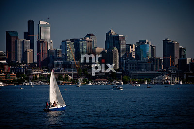 Sail boating on Lake Union, Seattle, WA - Architectural, Lifestyle, and Sports Photography
