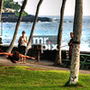 Slacklining on the big island in Kona, Hawaii
