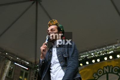 Macklemore and Ryan Lewis performs in Seattle. Sonics Rally_Downtown Seattle