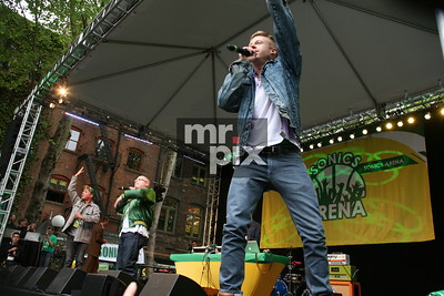 Macklemore and Ryan Lewis performs in downtown Seattle. Sonics Rally_Downtown Seattle
