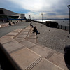 LIVERPOOL. RIVER MERSEY + CANADA BOULEVARD AT THE GEORGES DOCK PIER HEAD. THE UNITED KINGDOM OF GREAT BRITAIN AND NORTHERN IRELAND.
