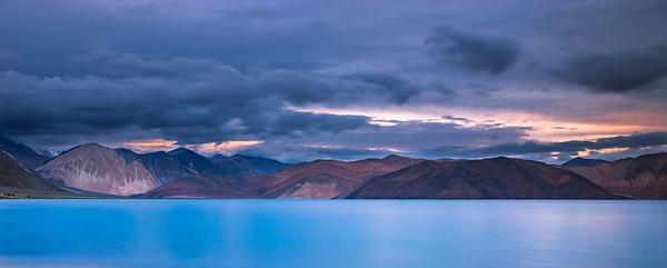 Pangong lake in twilight