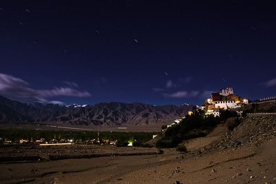 Moonlit Thiksey monastery