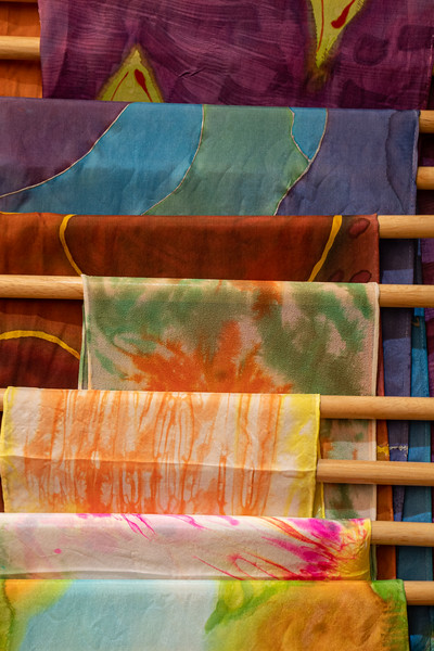 Christine Sullivan's hand painted silk scarves