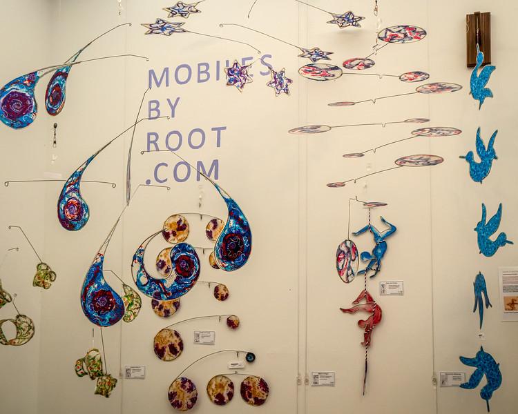 The colorful mobiles of Root Woods