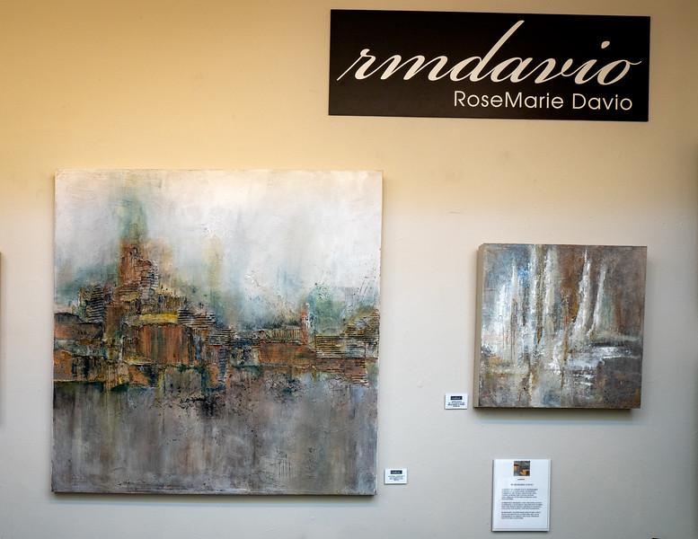 RoseMarie Davio's impressionistic landscapes