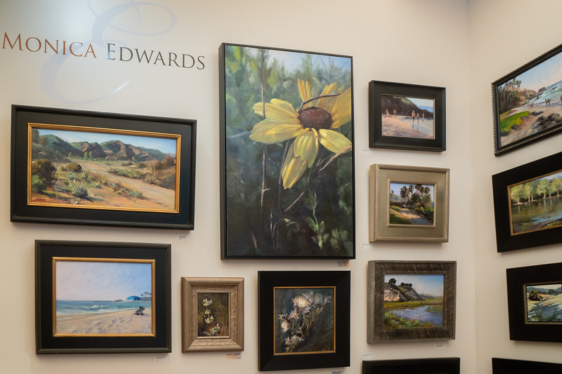 The work of plein air painter, Monica Edwards