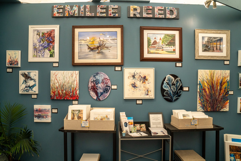 The work of watercolorist Emilee Reed.