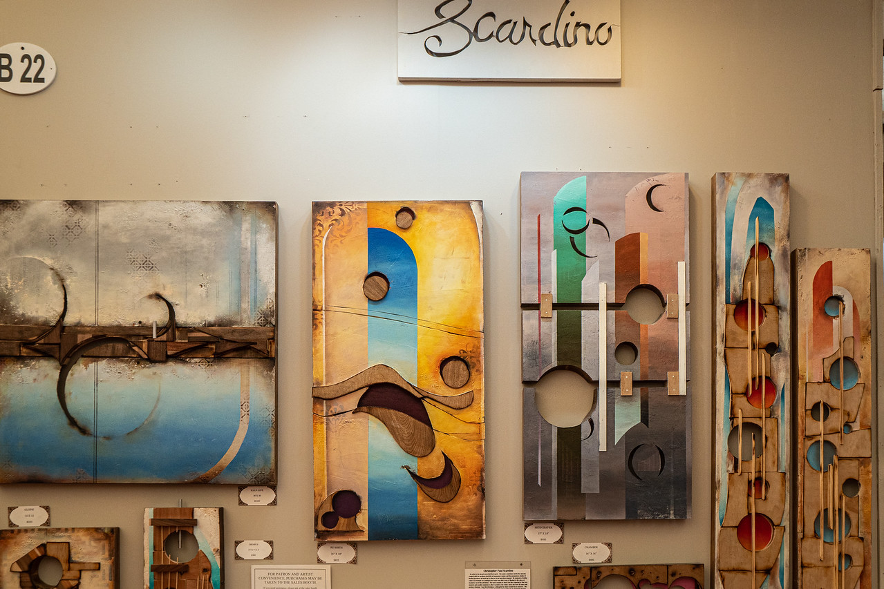The Scardino booth at Art-A-Fair 2019