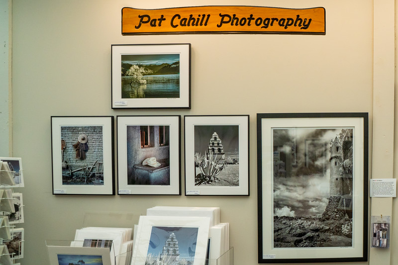 Pat Cahill's booth at Art-A-Fair 2019. Stop by to see her infrared images.