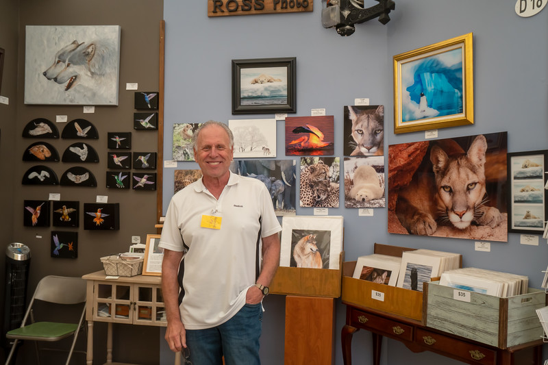 Robert Ross, photographer, at the Art-a-Fair