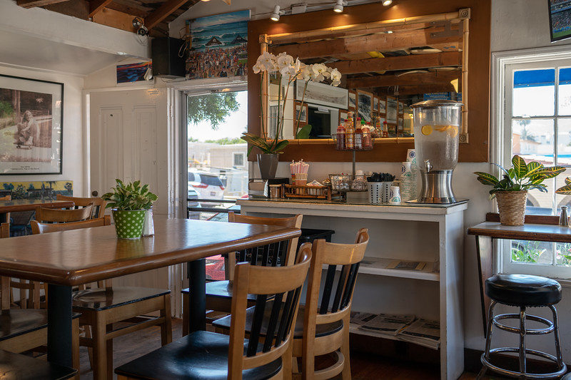Interior of Orange Inn cafe, Laguna Beach