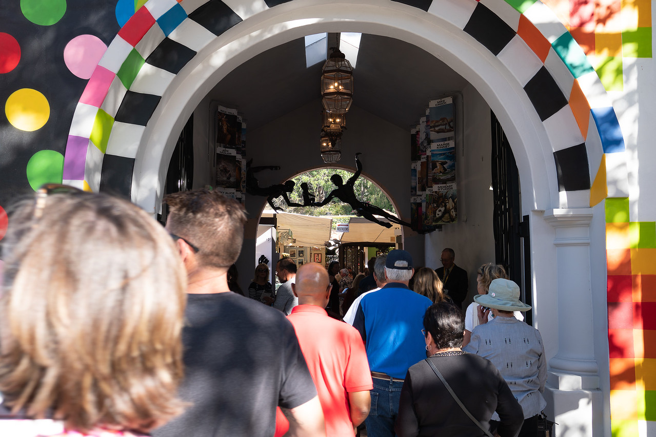 The Gate Opens at Art-A-Fair in Laguna Beach!