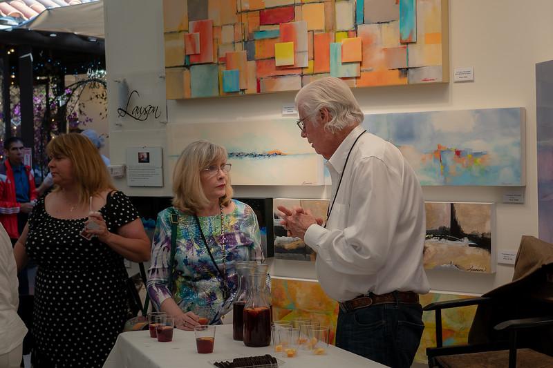 Serious art discussion at Art-A-Fair