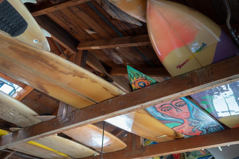 Ceiling decor in the Orange Inn cafe, Laguna Beach