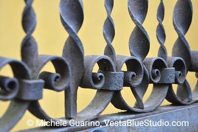 Metal scrollwork: Varenna, Lake Como, Italy