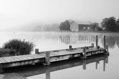 Fog blankets Lake Shenandoah early one morning