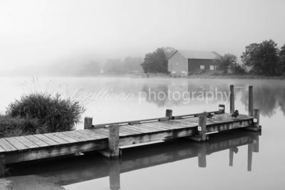Fog blankets Lake Shenandoah early one morning
