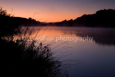A subtly colorful sunrise over Lake Shenandoah.