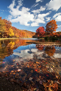 Autumn reflections at Lake Sherando in Virginia