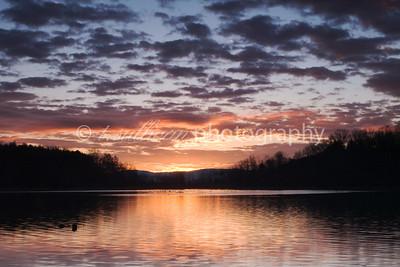 Sunrise at Lake Shenandoah.