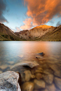 An amazing sunrise over Convict Lake, which sits nestled in the Sherwin Range of California's Eastern Sierra Nevada.