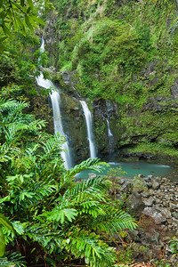 Three Bear Falls along the road to Hana
